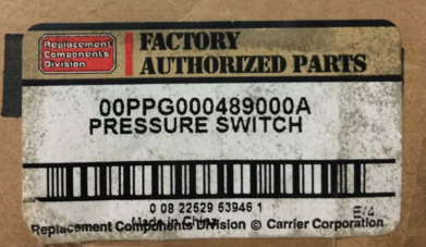 Pressure Switch Chiller Carrier code